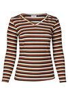 T-shirt met een bedrukking van strepen in lurex, Oranje