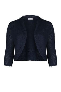 Bolero in tricot, Marineblauw