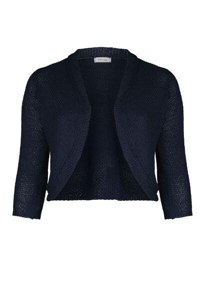 Bolero in tricot - Marineblauw