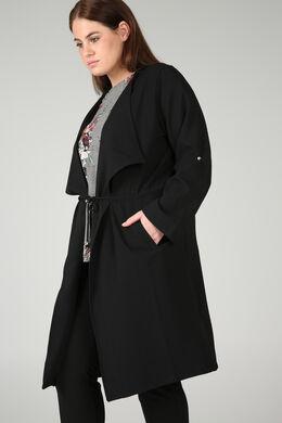 Lange slippen mantel, Zwart