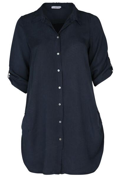 Lange bloes met 3/4-mouwen - Marineblauw