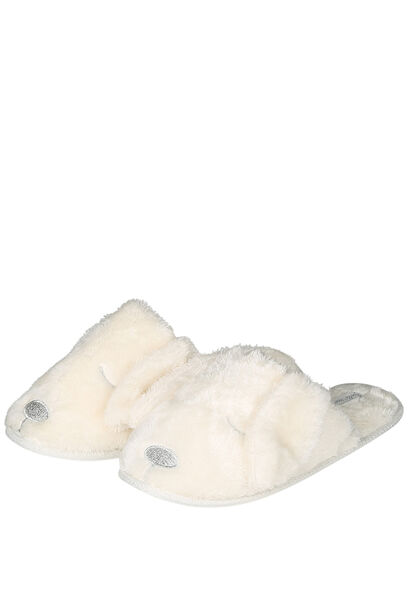 Pantoffels hond/kat - Ecru