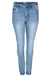 Smalle jeans met borduurwerk