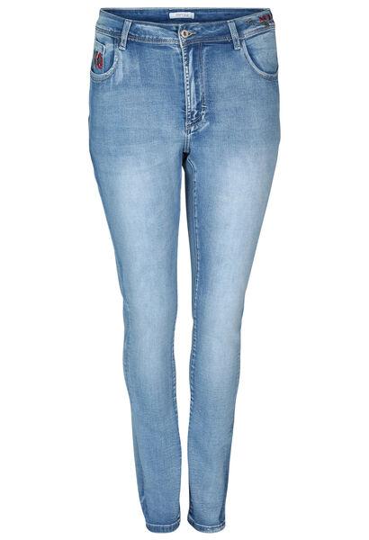Smalle jeans met borduurwerk - Denim