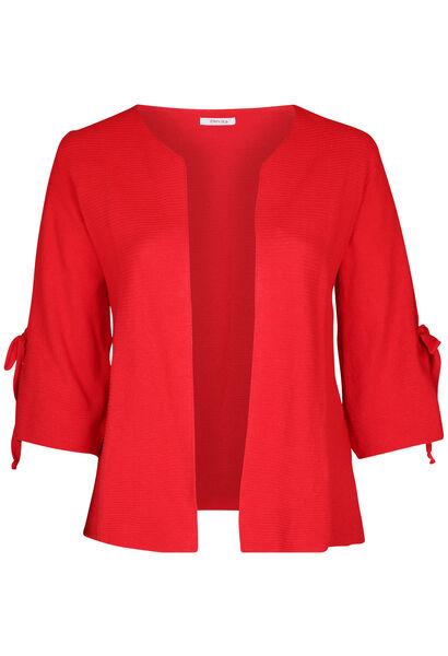 Cardigan met brede mouwen met strikjes - Rood