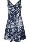 Katoenen jurk met een vlinderprint, Marineblauw