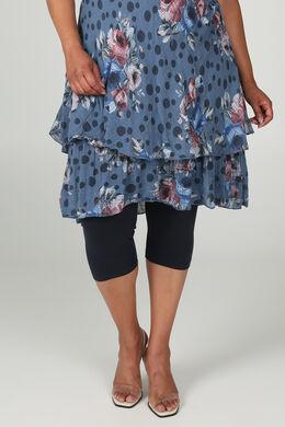 Kuitlange legging in biokatoen, Marineblauw