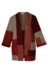 Lange coloured block cardigan