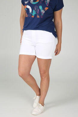 Katoenen short met 5 zakken, Wit