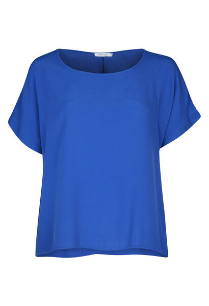 Ruime bloes met korte mouwen - Bic blauw