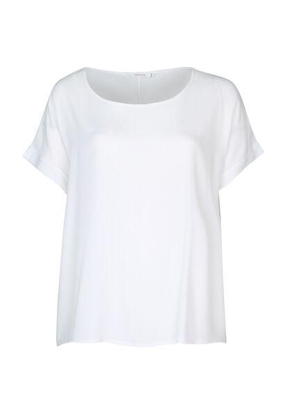 Ruime bloes met korte mouwen - Wit