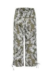 Soepel vallende broek met palmprint
