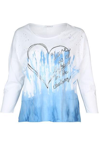 T-shirt met tie & dye-print - Wit