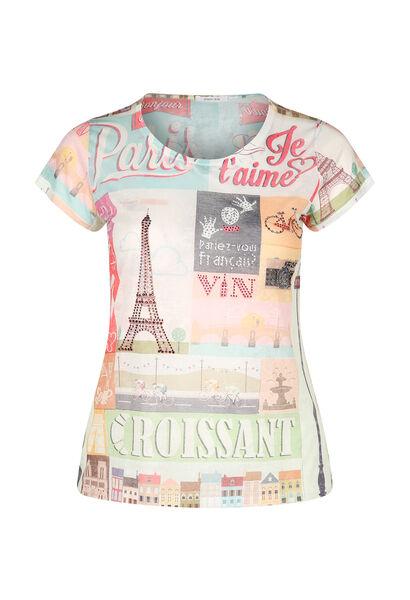 Bedrukt T-shirt Parijs - Multicolor