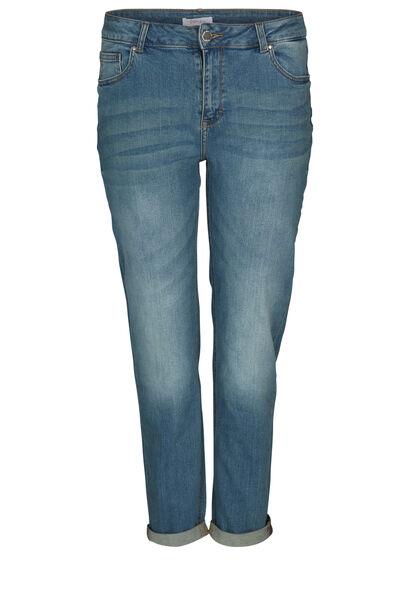 Jeans met geborduurde sterren - Denim