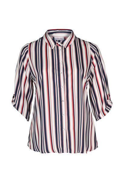 Gestreept hemd - Marineblauw