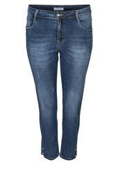 7/8 slim jeans met kraaltjes