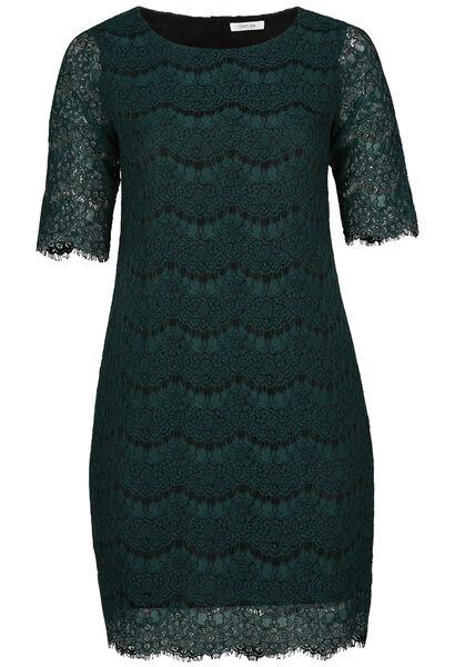 Kanten jurk met 3/4-mouwen - Groen