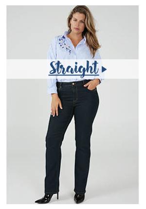Jeans Straight voor grote maten